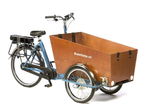 Electric assisted BAKFIETS Triporteur